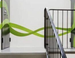 Street art en escaleras